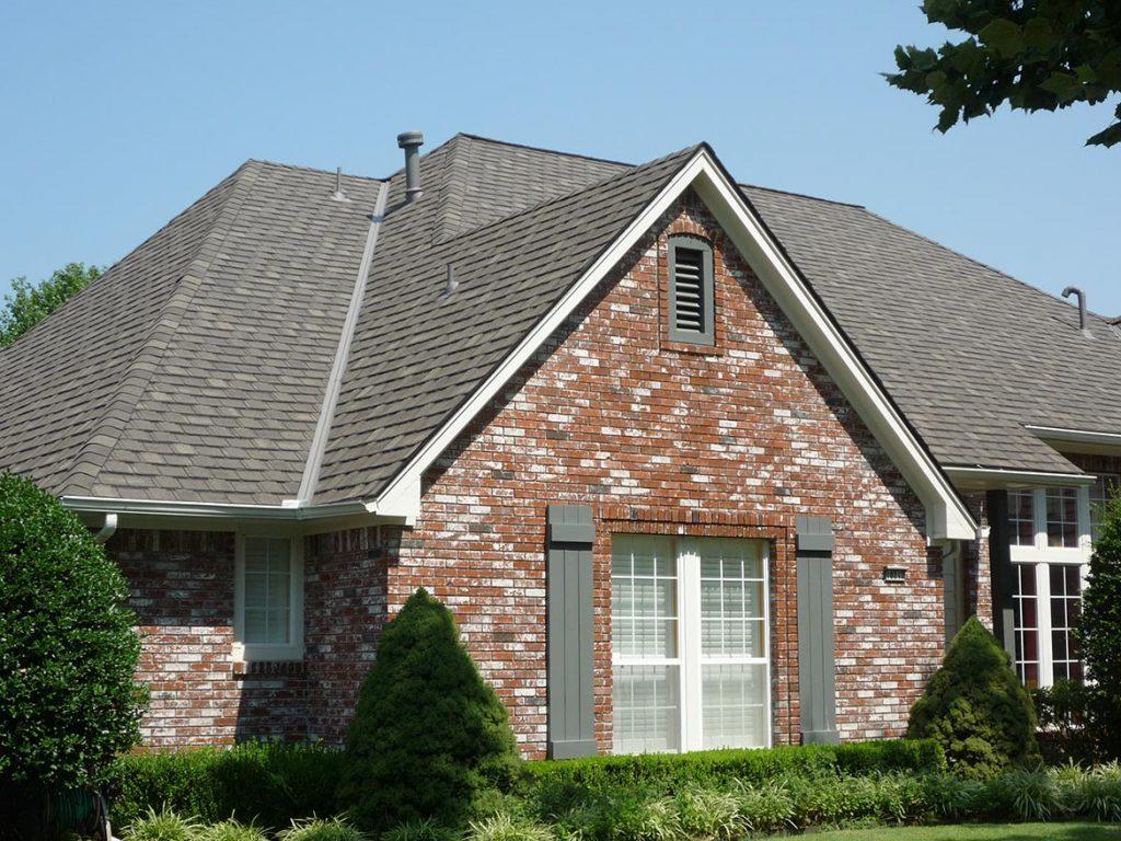 Gaf Camelot Aged Oak On Brick Roofscapes