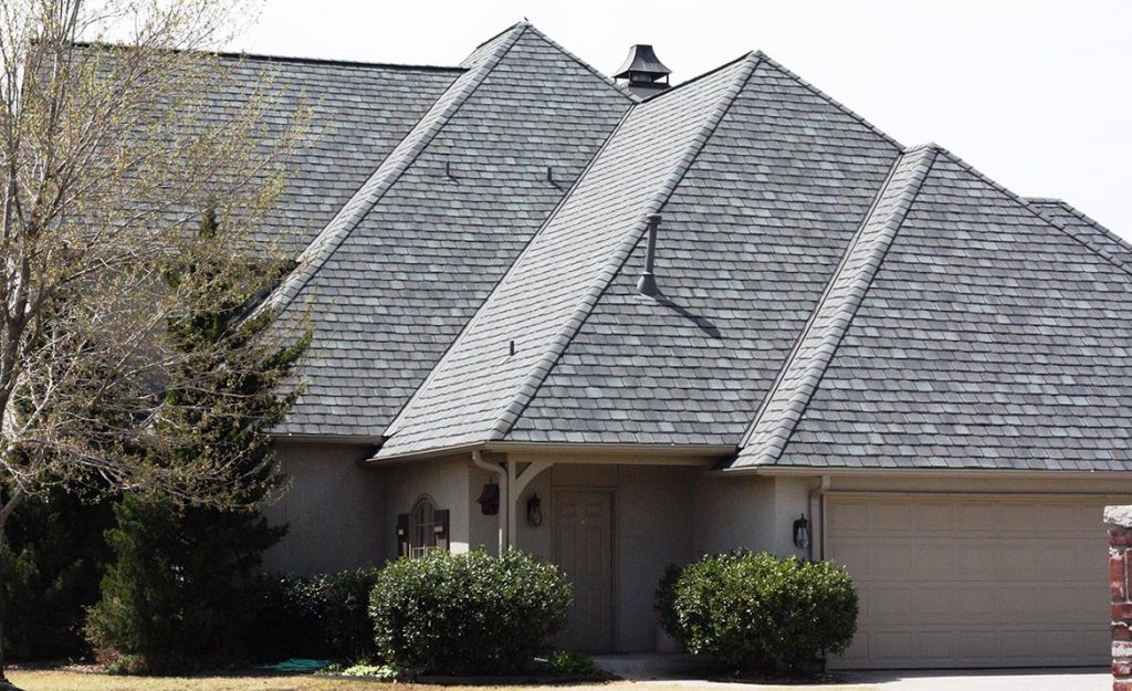 Antique Slate On Tan Brick Roofscapes