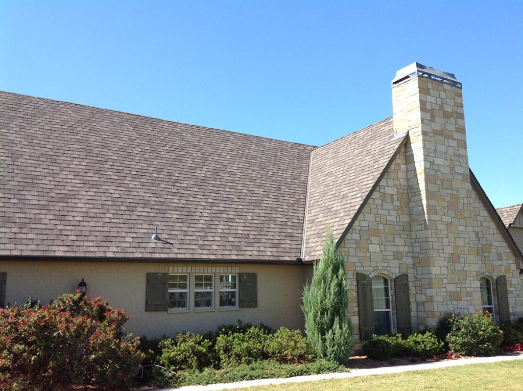 Guys Roofing Camelot II Aged Oak on Stone