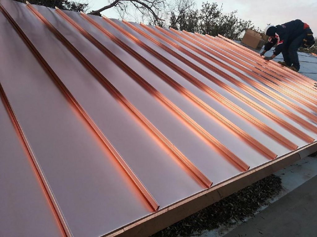 Copper roofscapes for Standing seam copper