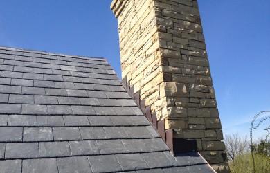 Truslate Greystone Stone Chimney
