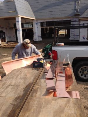 on site copper fabrication