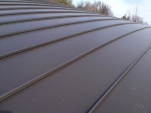 Standing Seam Brown Close Up
